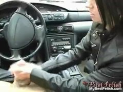 Handjob in a car