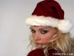Christmas striptease