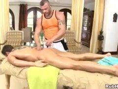 Athletic straight boys massage surprise