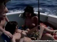 Tribbing boat threesome