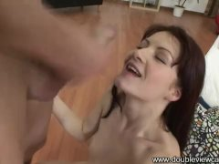 Passing her porn auditions with flying jizz