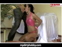 Amateur latina getting manhandled
