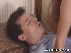 Mature amateur wife toys her ass and anal fucked