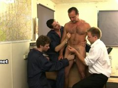 Mature man abused by mechanics 2