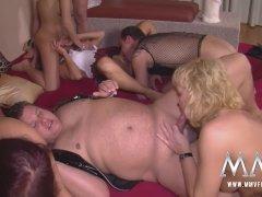 MMV FILMS Amateur German Orgy Swinger Party
