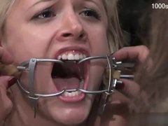 Young teen gagging deepthroat