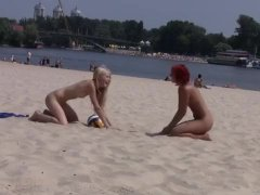 Nudist Girls Passing Ball Video