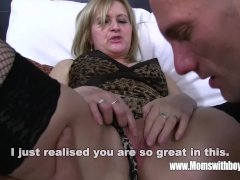 Mature Blonde Stepmom Ass Spanking Her Stepso
