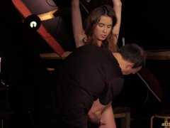 Bondage tight pussy fucked suffers increased punishment pain