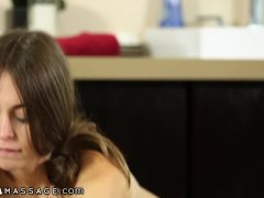 NuruMassage Riley Reid gets a Facial