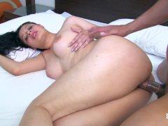 SANTA LATINA - Busty Latina Sara Martinez gets fucked and sprayed with cum