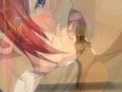 Hentai redhead tasting cock and fucking
