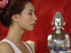 Massage Rooms Nympho Asian fucks big cock before hot hand job