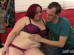 Red Headed plumper gets drilled and facial