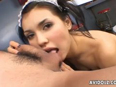 Maria is on that huge cock making it brake off real fast