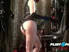 Mistress Humiliates Slave With BBC Strap On BDSM