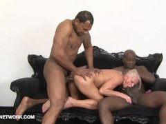 Mature drilled by black guys in hardcore interracial Anal and face fucked