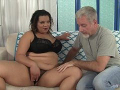 Lady Spice takes fat white cock