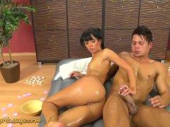 slippery nuru massage with Gina Devine