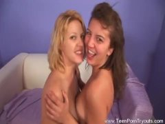 Interracial Threesome With Teen Sisters
