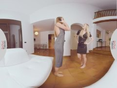 VIRTUAL TABOO - Horny Lesbian Sisters Playing with Dildo