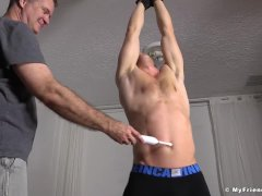 Fit dude Kenny gets tickled the hard way