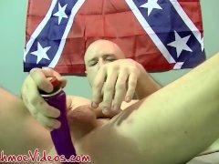 Bald hunk Tony mouth fucks mature guy
