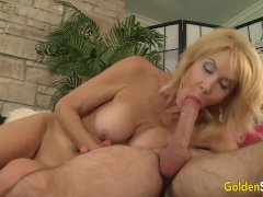 Mature woman Erica Lauren loving fat cock