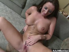 AdultMemberZone - Busty lady gets a big load on