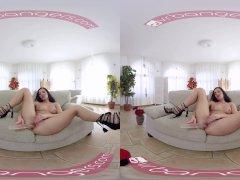 VR PORN-Sweet Lucia Denvile Take A Big Dildo In Both Holes (VR)