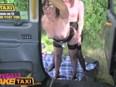 Female Fake Taxi Double dildo multiple orgasms