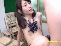 Hoshisaki Seira Extremely Skinny Jav Teen Fucks Her Teacher In Class