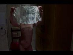 Sexy UK MILF spanking striptease