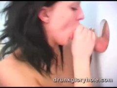 Drunk Natasha Melony sucks in the toilet