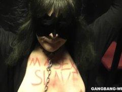Sex slave wife gangbanged by plenty of men