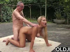 Old and Young Porn - BustyTeen Gets Wet and Sucks