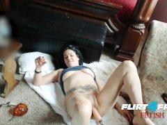 Flirt4Free Fetish Lola Munoz - Babe Smokes While Enjoying Her Dildo Machine