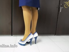 Mature Office Domina mit High Heels Nylons Legs Mistress