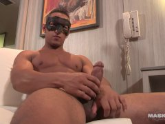 Maskurbate Straight French Canadian Guy Jerking Thick Big Dick