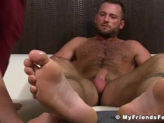 Feet worship and masturbation with hunk
