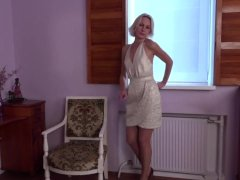 Horny housewife Artemia fingering herself