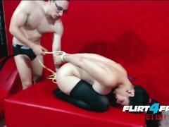 Flirt4Free Fetish - Nicolas Dominates Adriana While Bound and Gagged