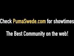 Blonde Amazon Puma Swede Shares Cock & Cum In Fuck Fest 4Way
