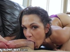 Spanish Mom Sucking College Step Son's Dick While Papi Zzz