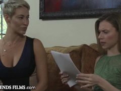 GirlfriendsFilms Anya Olsen Teases MILF into Scissor Session