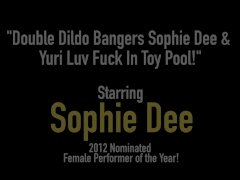 Double Dildo Bangers Sophie Dee & Yuri Luv Fuck In Toy Pool!