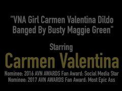 VNA Girl Carmen Valentina Dildo Banged By Busty Maggie Green