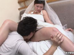 Sweet Chinese Girl Emi Koizumi Swallows A Fur Covered Rock Hard Dick
