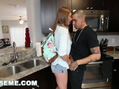 ABUSE ME - Young Teen Kirsten Lee Asks Her Boyfriend Bruno Dickemz To Fuck