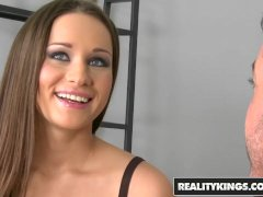 Reality Kings -  Skanky Euro teen Irina Bruni uses Back Door to get free re